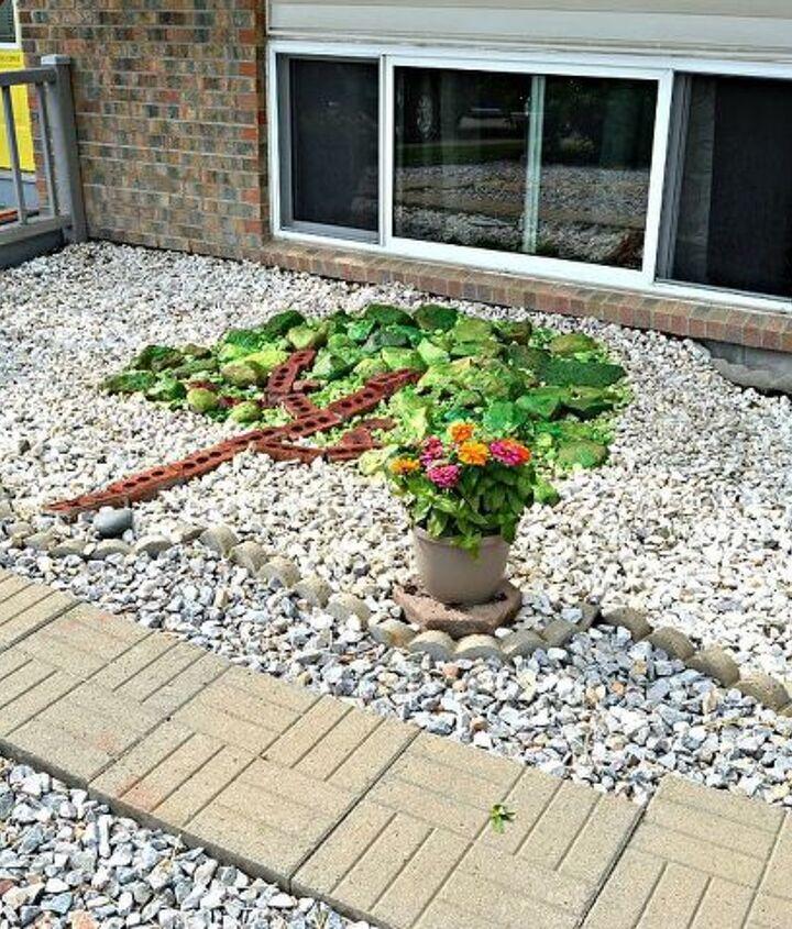 a pop of rock art, diy, gardening, how to, landscape