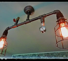 Steampunk Lighting In My Home Will Be Adding More As Installed, Lighting, Living  Room