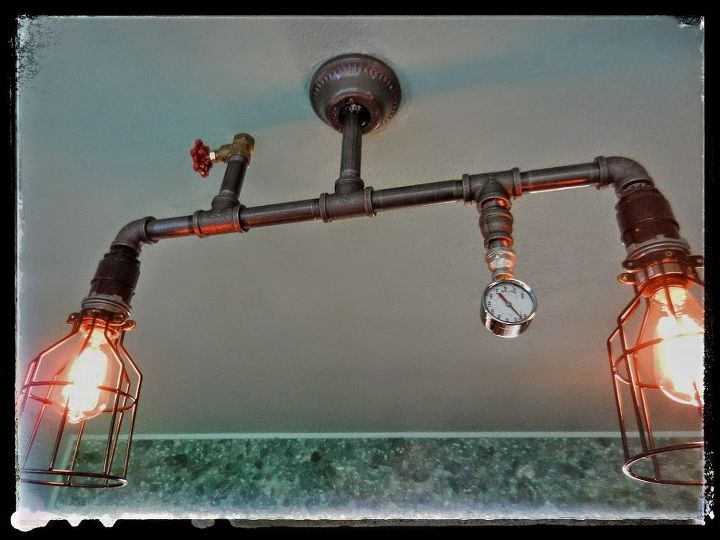 steampunk lighting in my home will be adding more as installed, lighting, living room ideas, repurposing upcycling