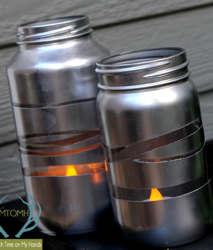 upcycycled silver lanterns, crafts, outdoor living, repurposing upcycling