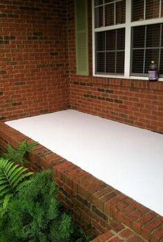 front porch faux tile, diy, flooring, porches, tile flooring
