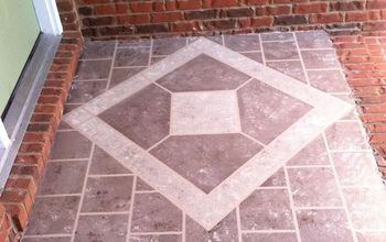 front porch faux tile, diy, flooring, porches, tile flooring
