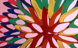 diy rainbow flower toilet paper roll craft, crafts, repurposing upcycling