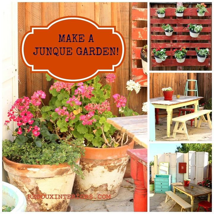 Junk Garden Ideas 2018 Edition: Outdoor Patio And Garden. Make From 100% Recycled Junk