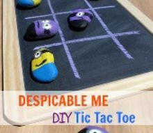 diy despicable me minion tic tac toe board game, crafts