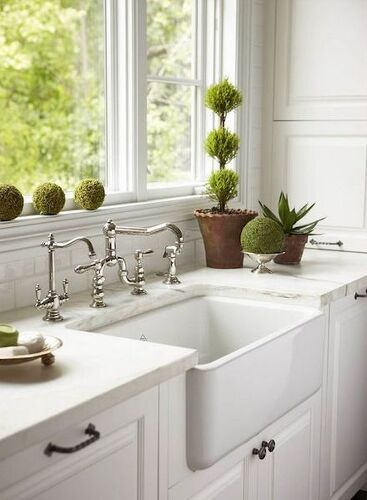 Farmhouse sink stainless steel or cast iron hometalk for Stainless steel countertop with built in sink