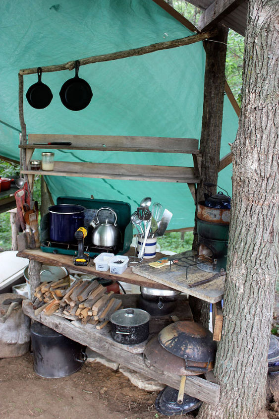 a homestead outdoor kitchen, homesteading, outdoor living