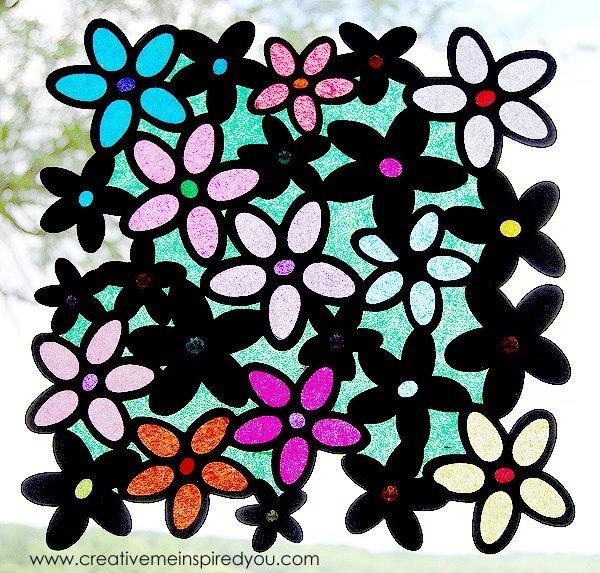 stained glass window sun catchers, crafts, home decor, windows
