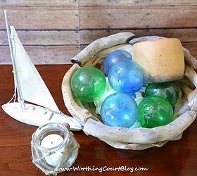 How To Make Glass Fishing Floats With Clear Glass Christmas Ornaments,  Crafts