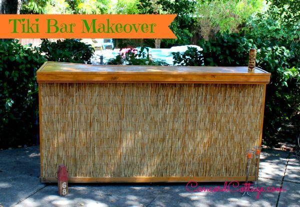 http concordcottage com tiki bar makeover, outdoor furniture, outdoor  living, patio - Tiki Bar Makeover Hometalk