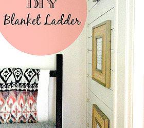 super easy diy blanket ladder foyer home decor repurposing upcycling & Super Easy DIY Blanket Ladder | Hometalk