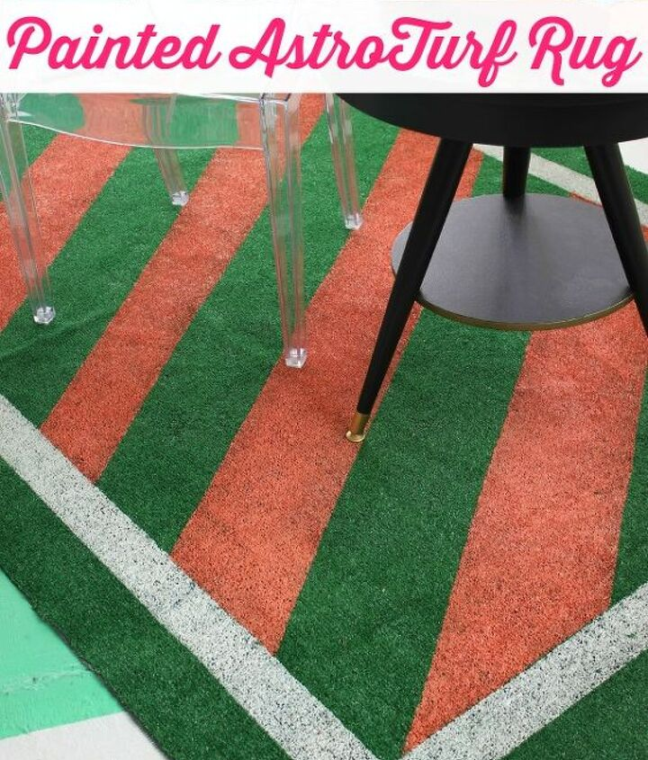 diy painted astroturf rug, flooring, outdoor living, painting