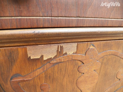 antique chest of drawers gets a milk paint makeover, chalk paint, painted furniture