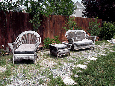 transforming ugly old gravel patio gardening landscape outdoor furniture outdoor living