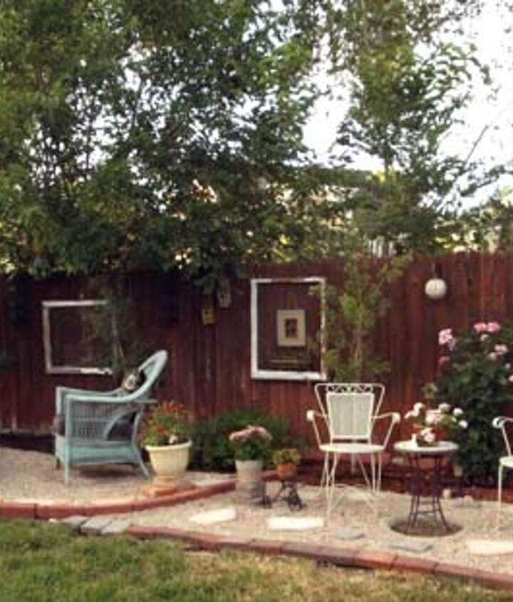 transforming ugly old gravel patio, gardening, landscape, outdoor furniture, outdoor living, patio