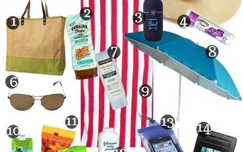 14 things to pack in your beachbag, outdoor living