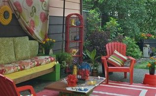 ugly patio make over, outdoor furniture, outdoor living, patio