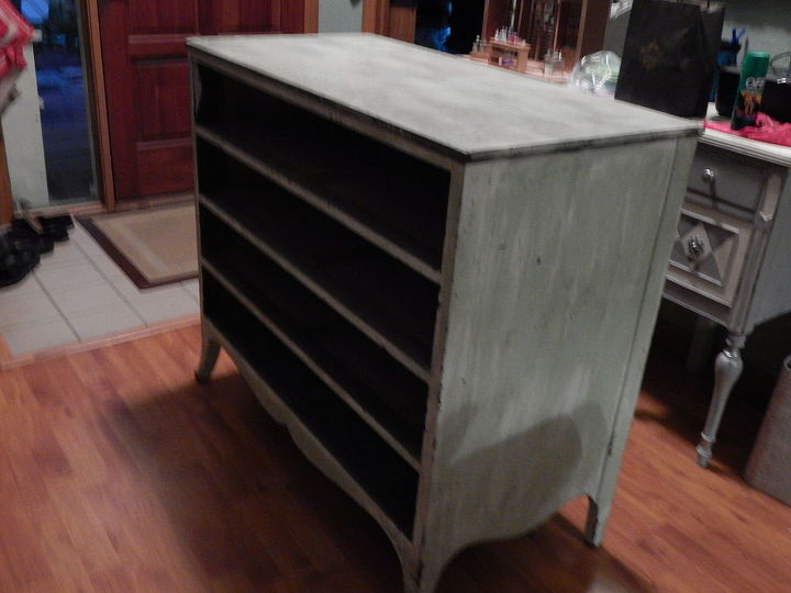 dresser found on side of road, painted furniture, before pic