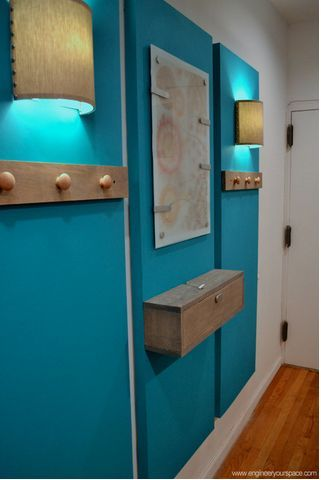 how to decorate a big blank wall and create an entryway, foyer, home decor, wall decor