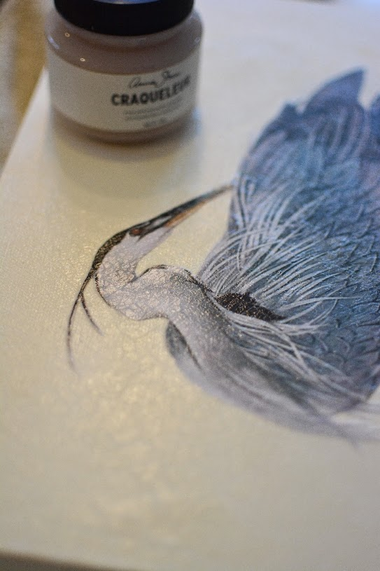 create a simple wall art with decoupage chalk paint craqueleur, chalk paint, crafts, decoupage, home decor