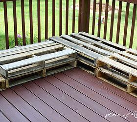 Diy Pallet Furniture Patio Makeover, Diy, Outdoor Furniture, Outdoor  Living, Painted Furniture