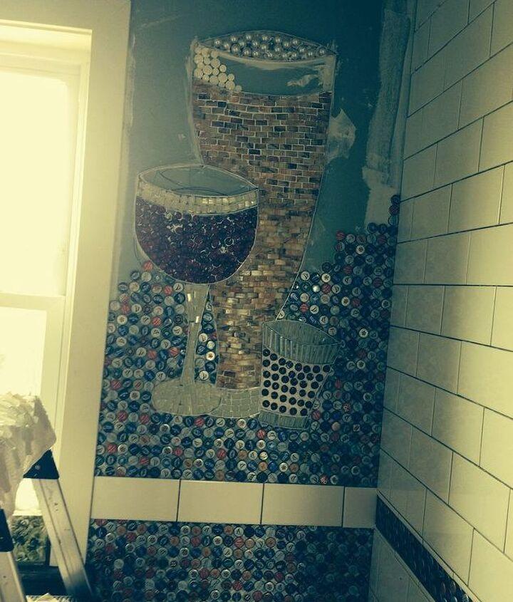 Tiles, jar fillers, whatever I could find