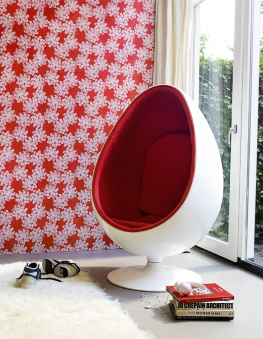 why designers love wallpaper for making your home fashionable, home decor, wall decor, Growth Red Modern Living Wallpaper R1656