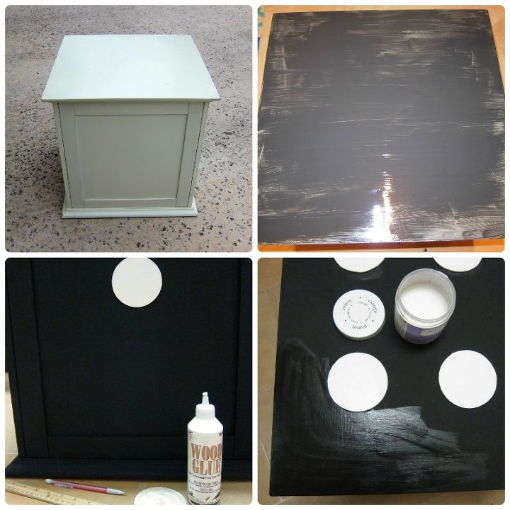 repurposed diy end table, painted furniture, repurposing upcycling