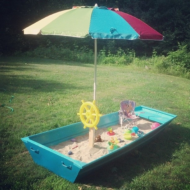 diy sandbox boat tutorial, diy, how to, outdoor living, repurposing upcycling