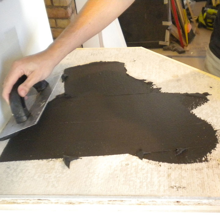 Apply the Ardex in small batches.