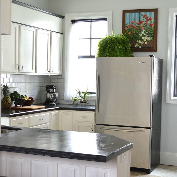 easy diy concrete counters, concrete masonry, concrete countertops, countertops, diy, how to, kitchen design