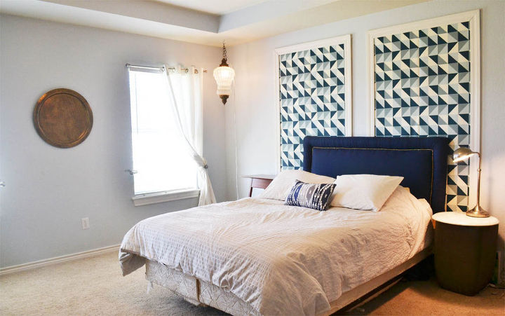using wallpaper as a removable statement art piece, bedroom ideas, wall decor