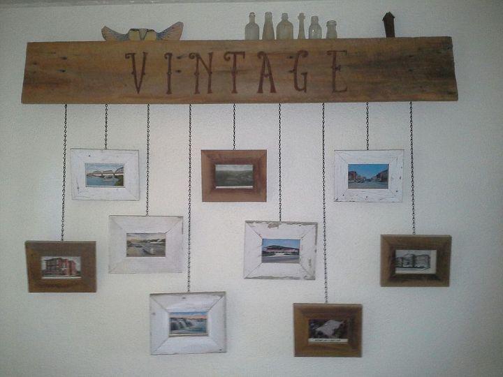 Our DIY Hanging Picture Frames Installation | Hometalk