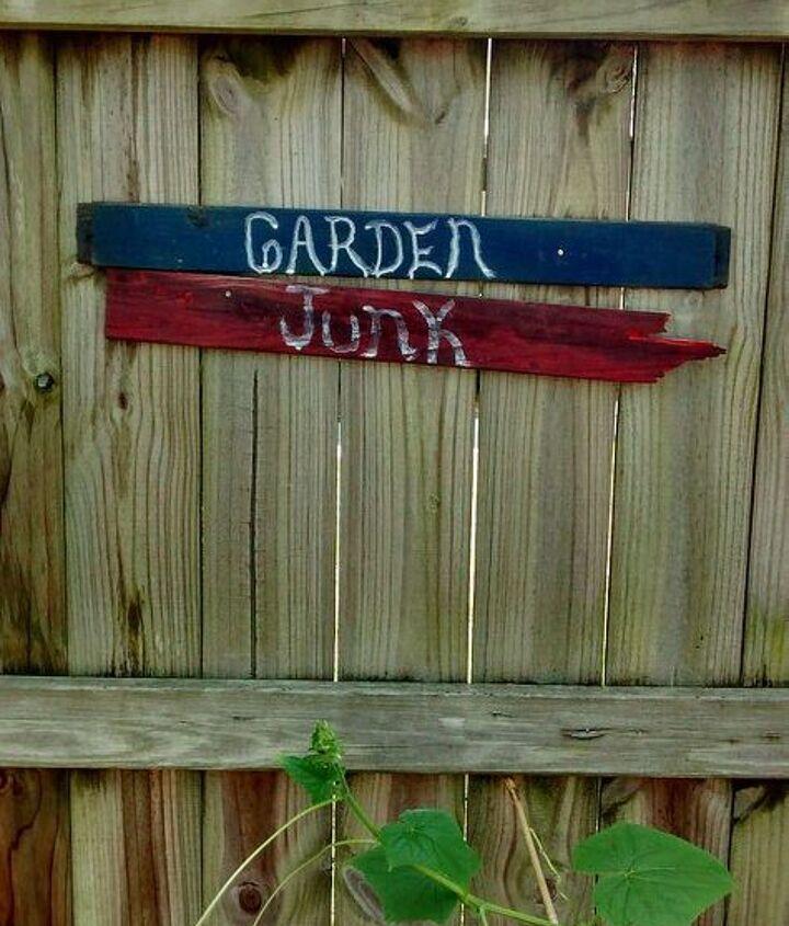 garden fence decorations diy, fences, gardening, outdoor living, patriotic decor ideas