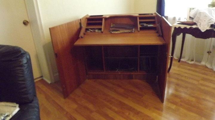vintage desk restore sewing craft, painted furniture