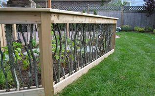 a backyard upgrade with a unique vegetable garden fence, decks, gardening, outdoor living, patio, Vegetable Garden Fencing