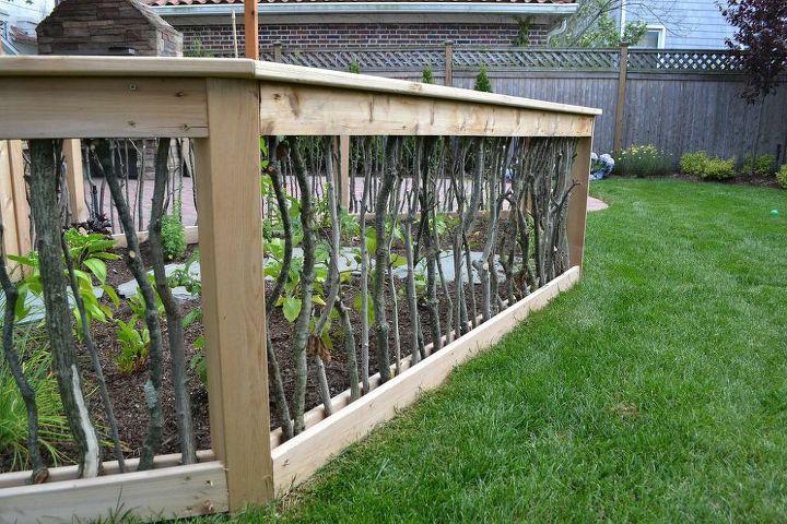 A Backyard Upgrade With A Unique Vegetable Garden Fence ...