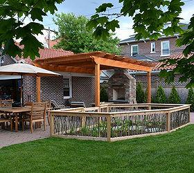 A Backyard Upgrade With A Unique Vegetable Garden Fence, Decks, Gardening,  Outdoor Living