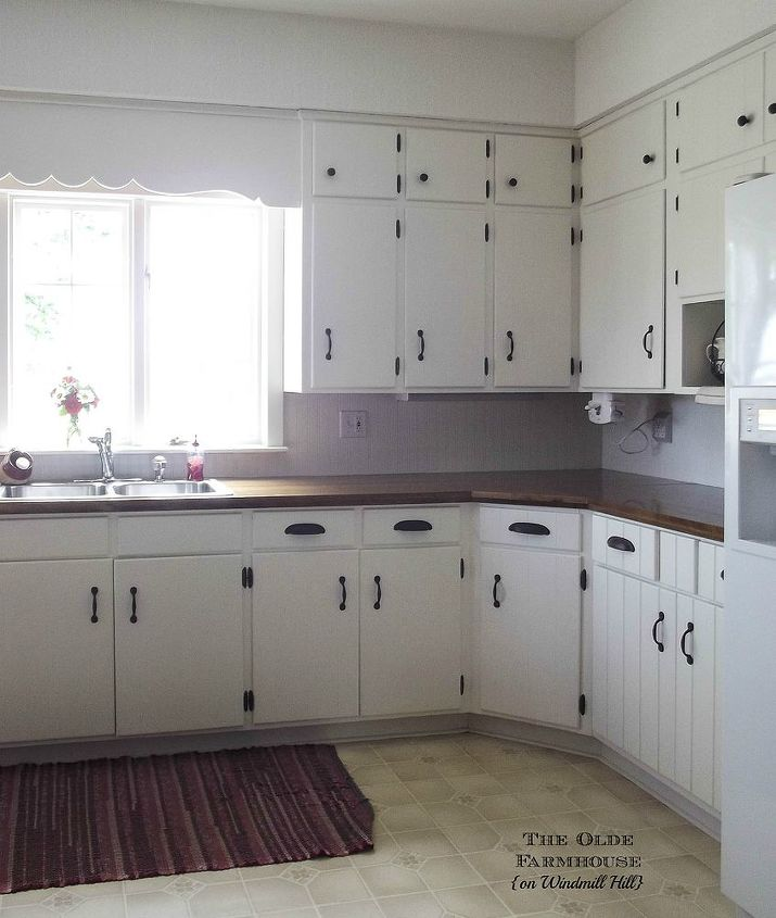 painted farmhouse kitchen, diy, kitchen cabinets, kitchen design, painting