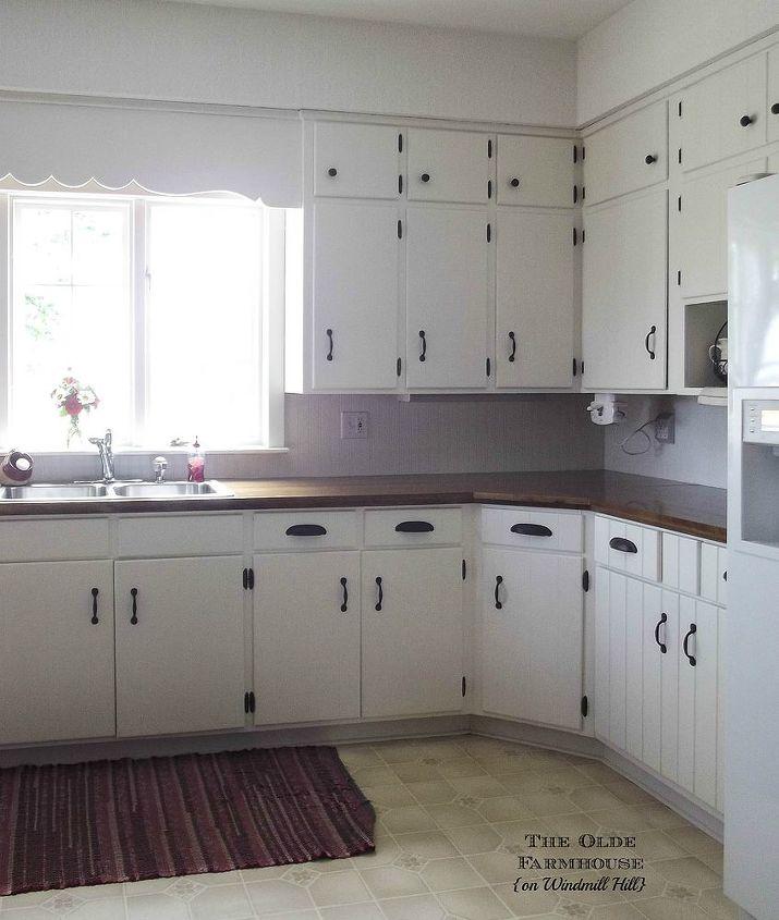 Diy Paint Kitchen Cabinets White: Painted Farmhouse Kitchen