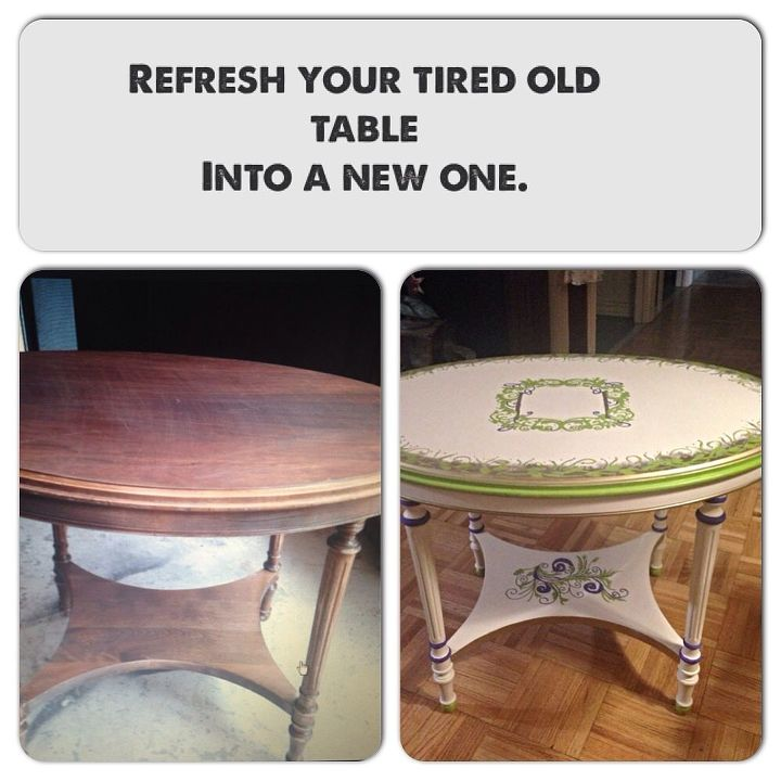 revive an old table, painted furniture