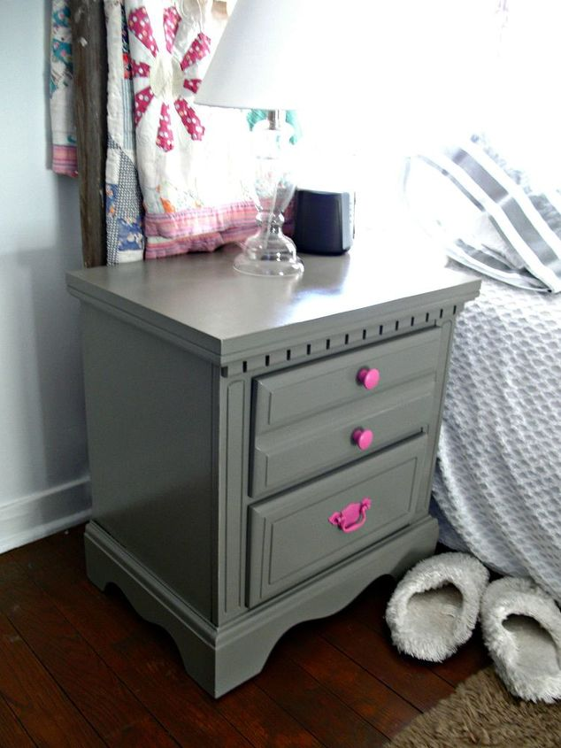 trash to treasure nightstand redo, painted furniture
