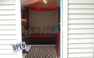 backyard shed makeover, home decor, outdoor living