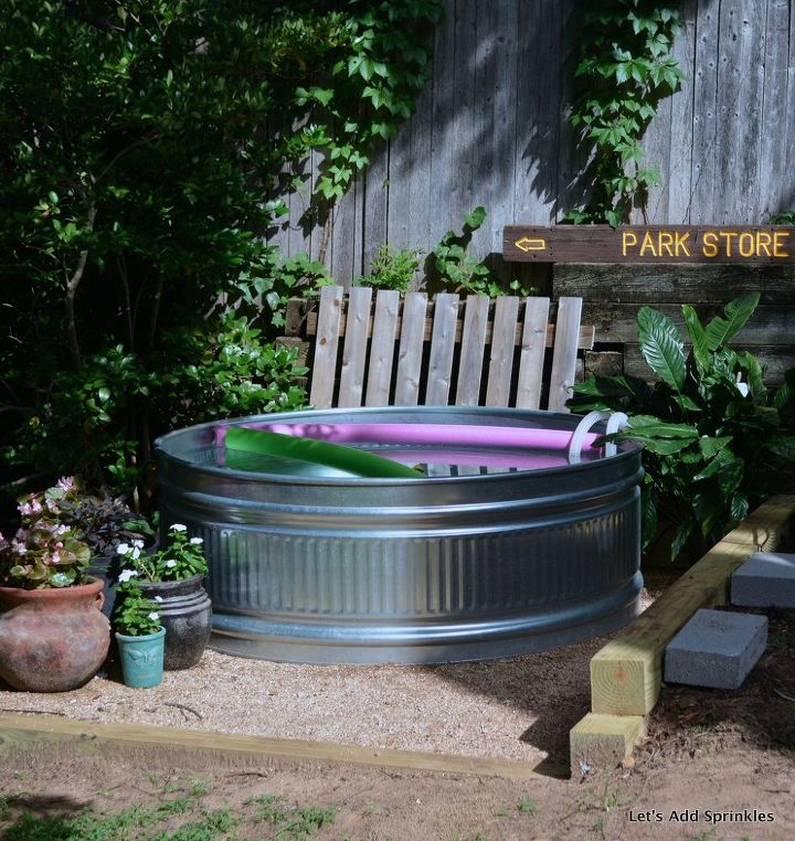 stock tank pool, outdoor living, ponds water features