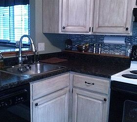 ... But I Painted My Cabinets With Rutsoleum Cabinet Transformation In Pure  White With The Glaze And Countertops With Craft Paint. I Love It!!