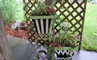 plastic old flower planters, container gardening, flowers, gardening