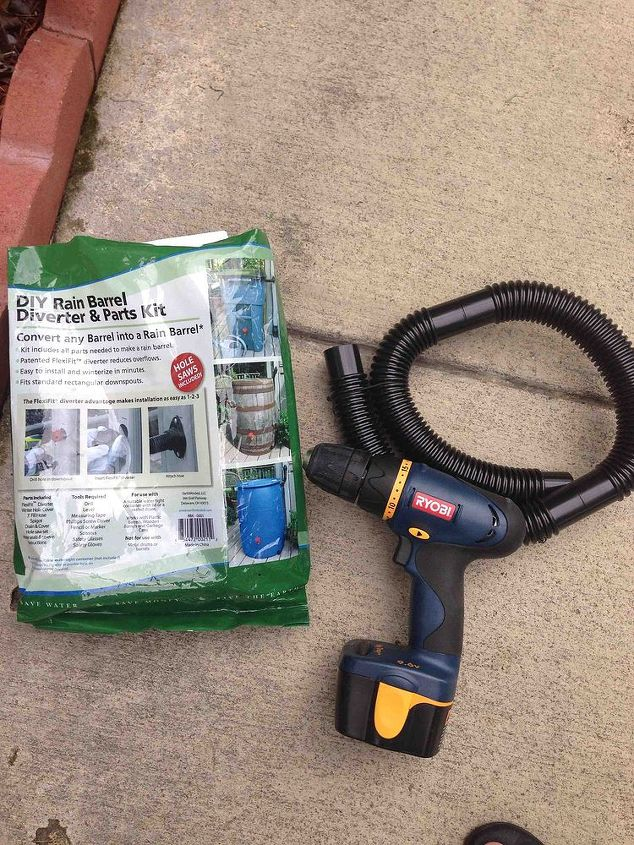 rain barrel, gardening, go green, I recommend using an electric drill though The battery operated one was not strong enough to drill the holes so I purchased an electric one and it made a big difference