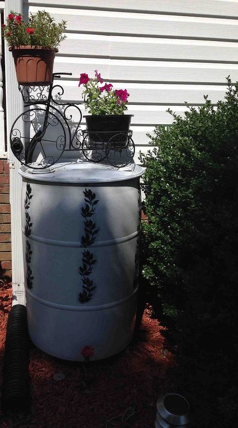 rain barrel, gardening, go green, It was full after the first rain we had after setting it up