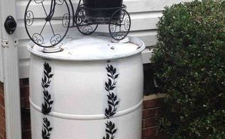 rain barrel, gardening, go green, All I have to do is pull the hose out of the downspout when it gets full Now I m ready to start on the next one for the back yard