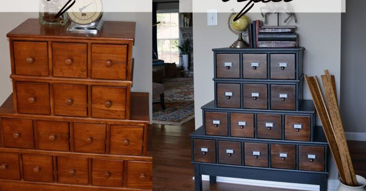 Vintage Style Apothecary Cabinet Before Amp After Hometalk